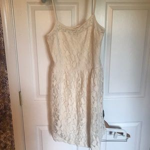 Altar'd State Ivory Lace overlay dress